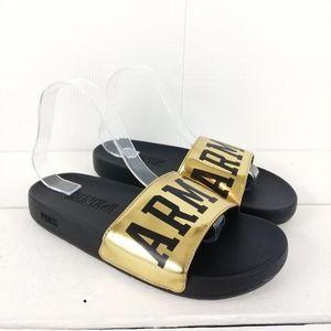 PINK VS ARMY slides Sandals size 8-9